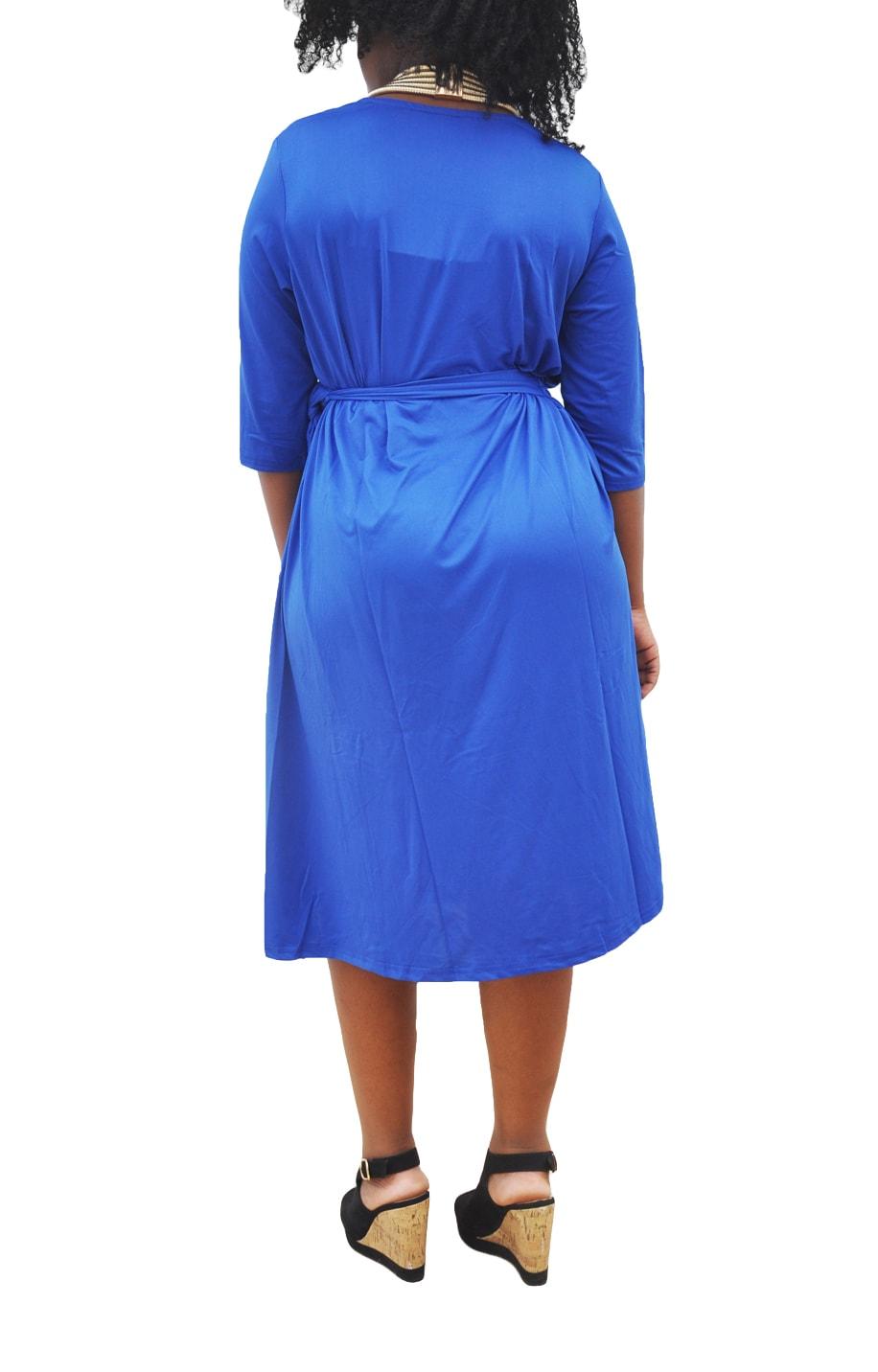 M0281 blue5 Short Sleeve Dresses maureens.com boutique