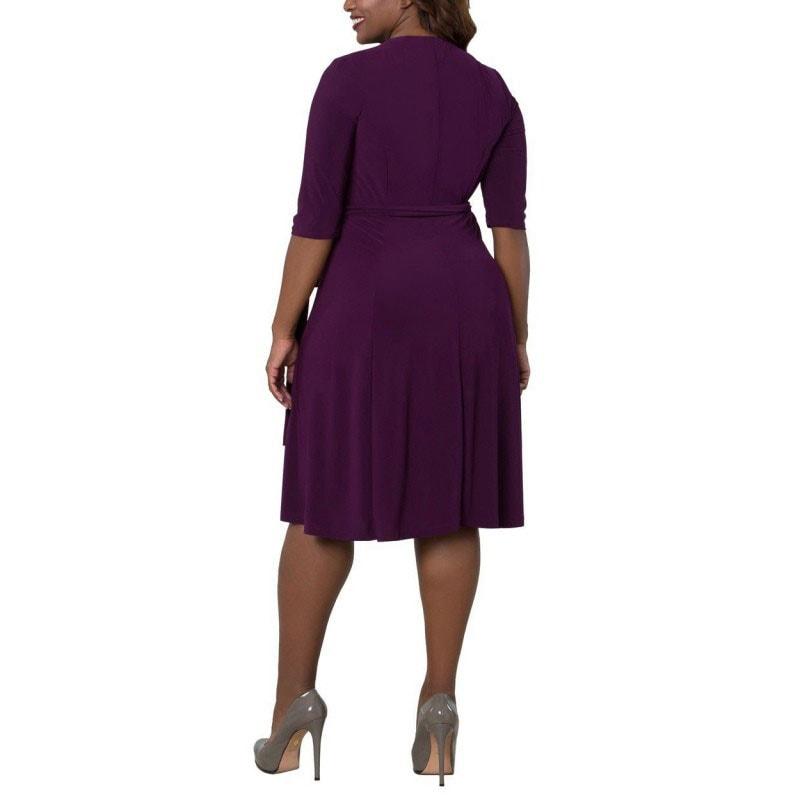 M0281 purple2 Short Sleeve Dresses maureens.com boutique