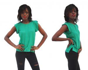 M0284 green1 High Low Tops Tops Shirts maureens.com boutique