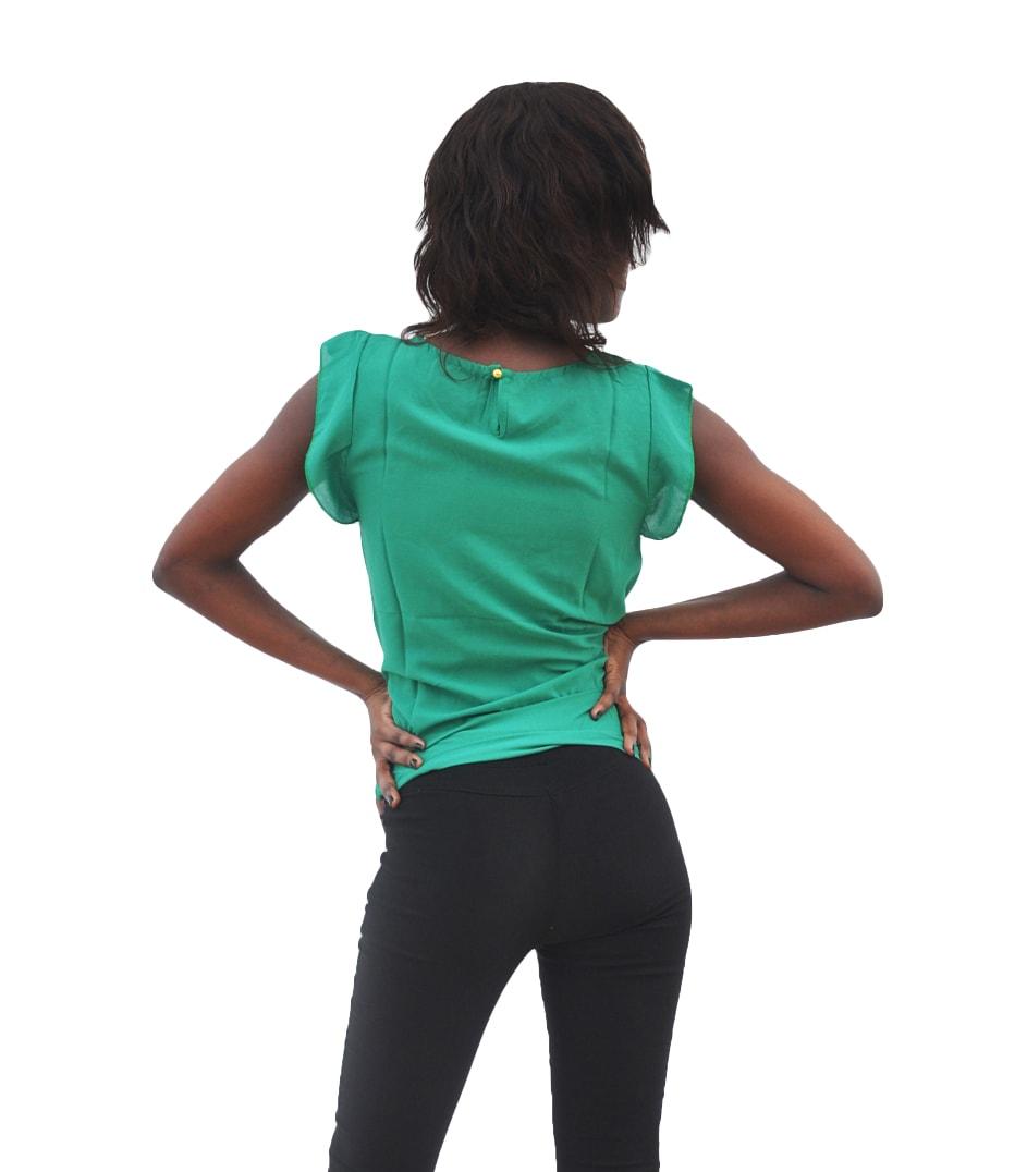 M0284 green3 High Low Tops Tops Shirts maureens.com boutique