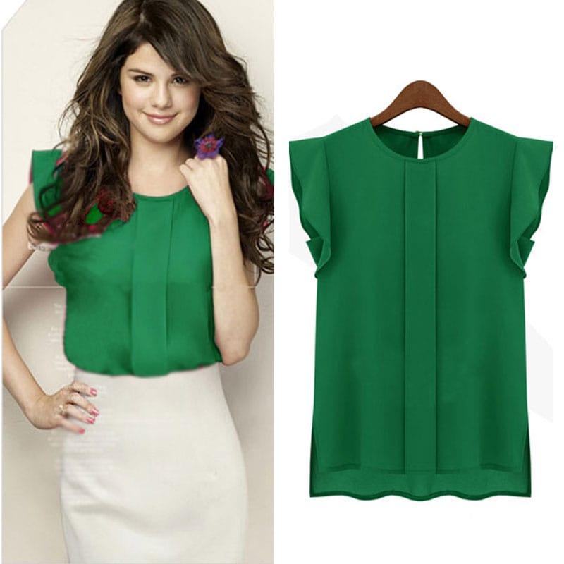 M0284 green4 High Low Tops Tops Shirts maureens.com boutique