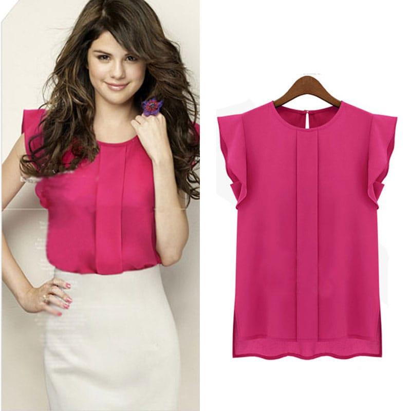 M0284 pink4 High Low Tops Tops Shirts maureens.com boutique