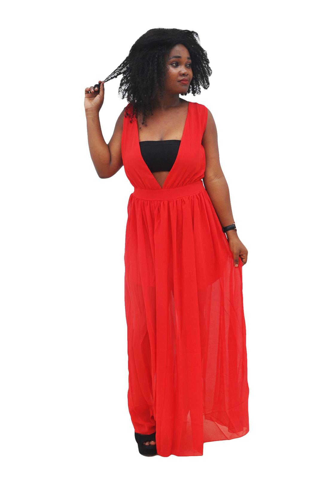 M0285 red1 Maxi Dresses maureens.com boutique