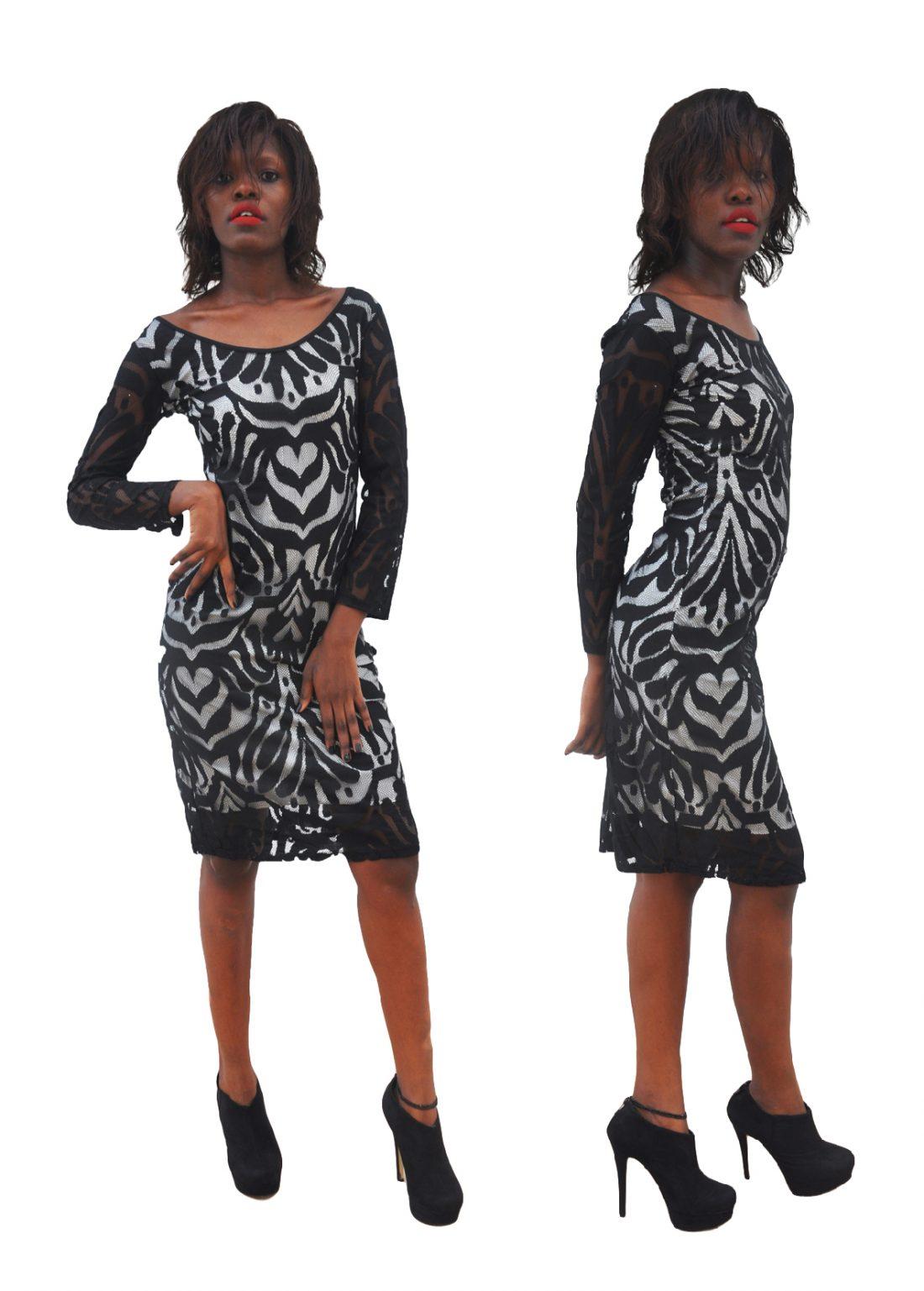 M0287 blackwhite1 Party Dresses maureens.com boutique