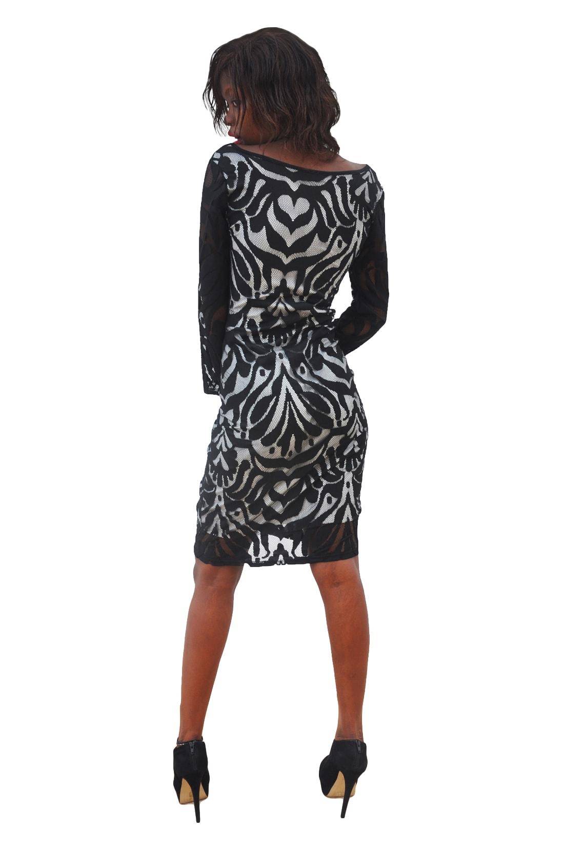 M0287 blackwhite3 Party Dresses maureens.com boutique