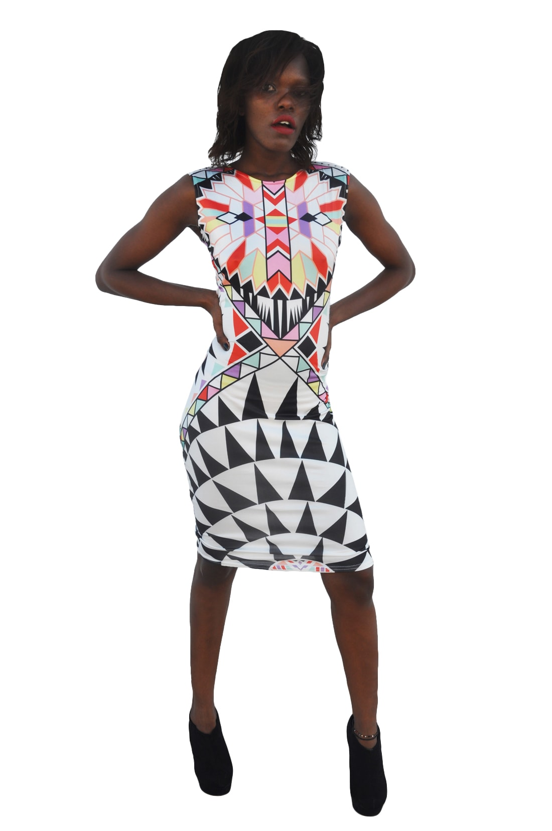 M0288 multicolor1 Bodycon Dresses maureens.com boutique