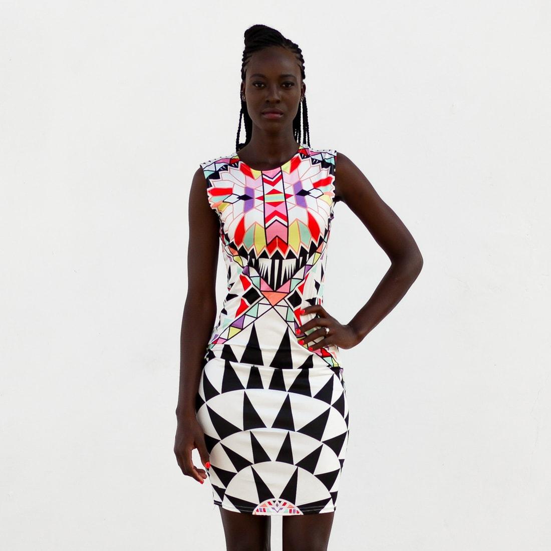 M0288 multicolor10 Bodycon Dresses maureens.com boutique