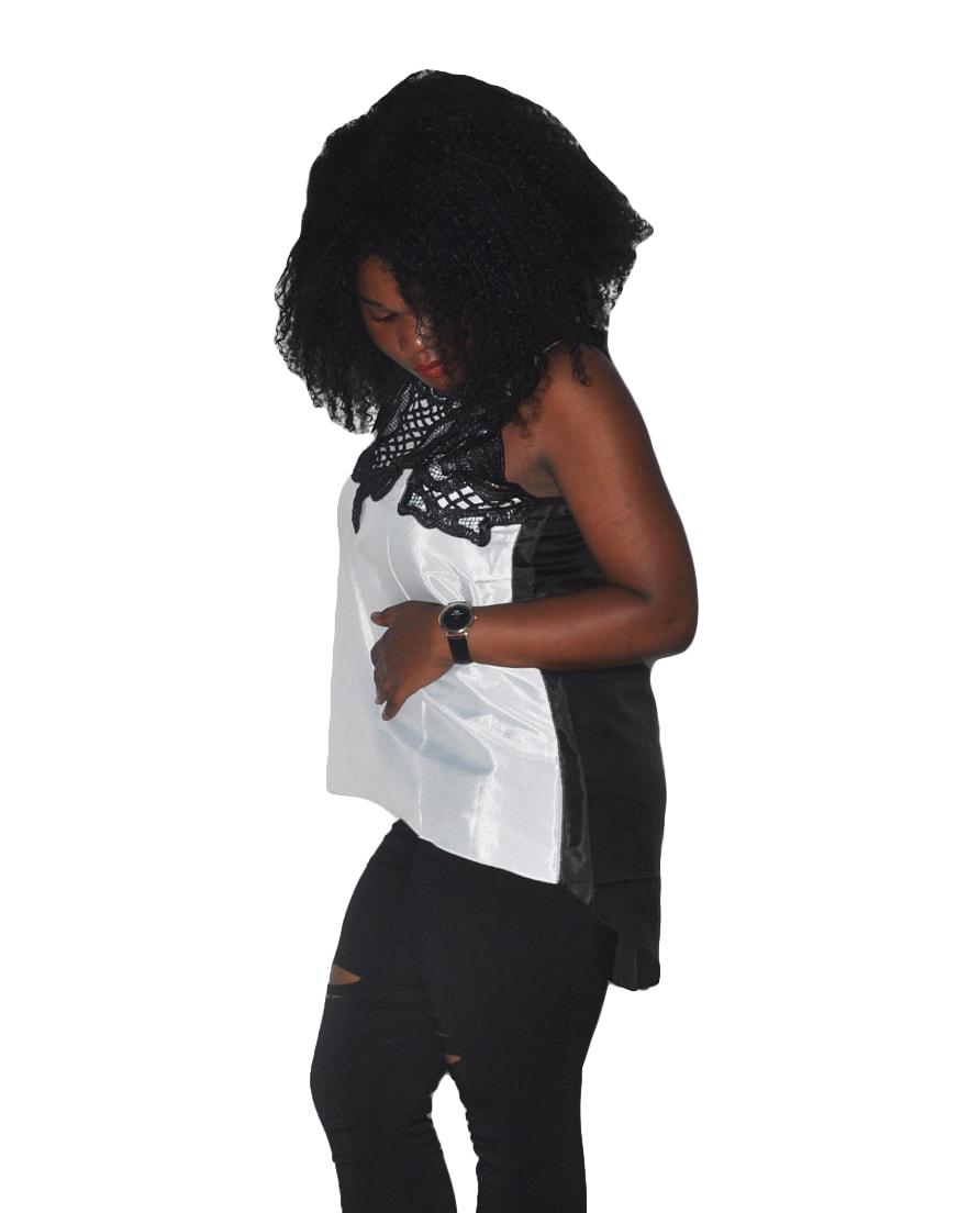 M0289 blackwhite3 Tops Covers Tops Shirts maureens.com boutique