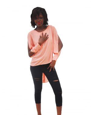 M0290 peach1 Blouses Tops Shirts maureens.com boutique