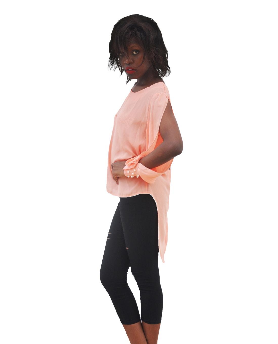 M0290 peach2 Blouses Tops Shirts maureens.com boutique