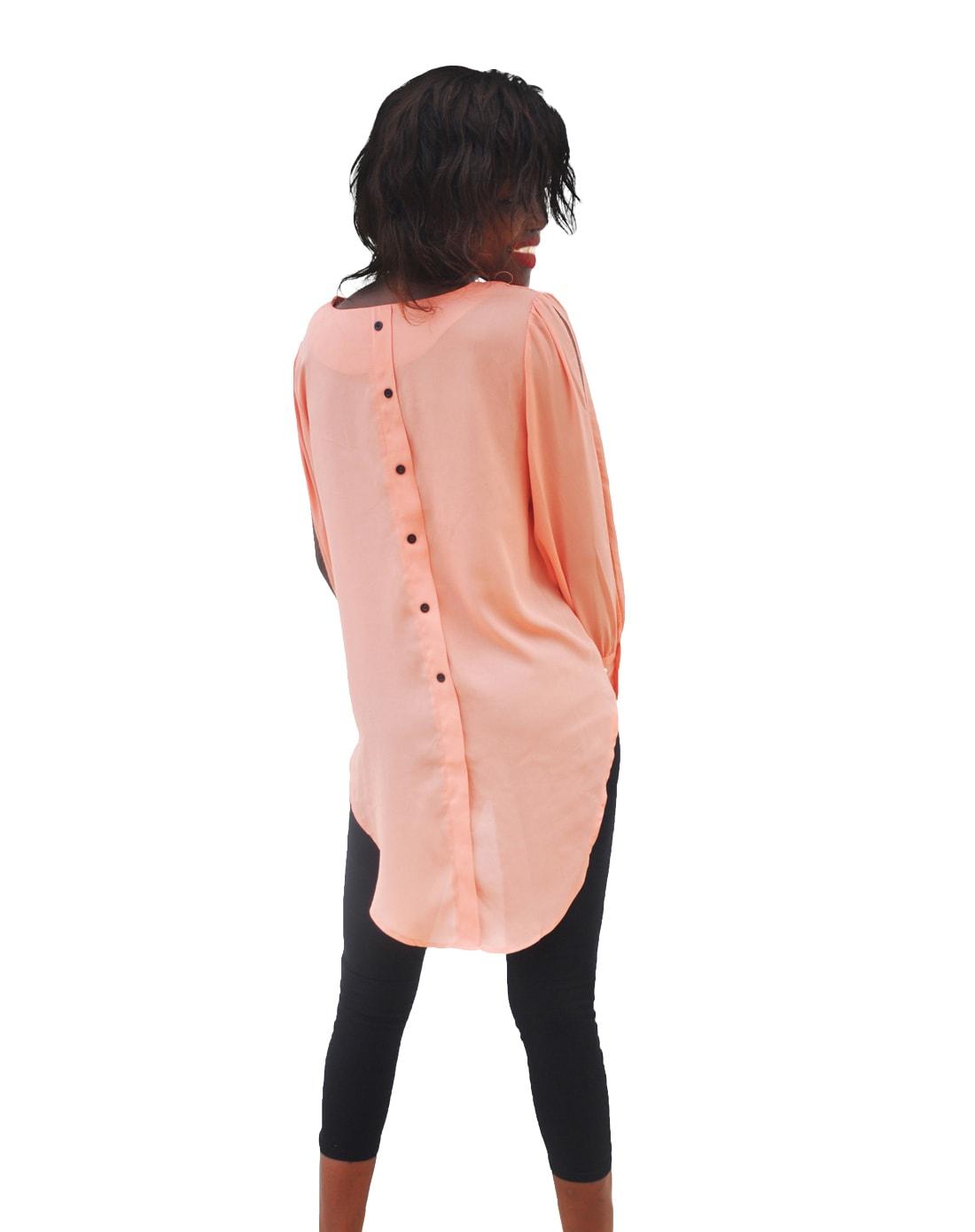 M0290 peach3 Blouses Tops Shirts maureens.com boutique