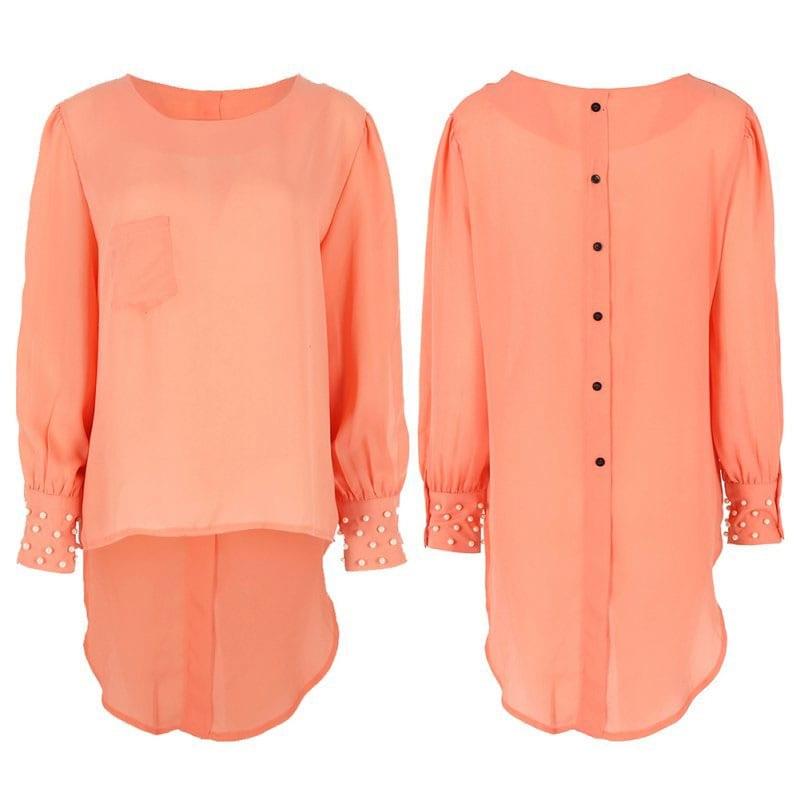 M0290 peach4 Blouses Tops Shirts maureens.com boutique