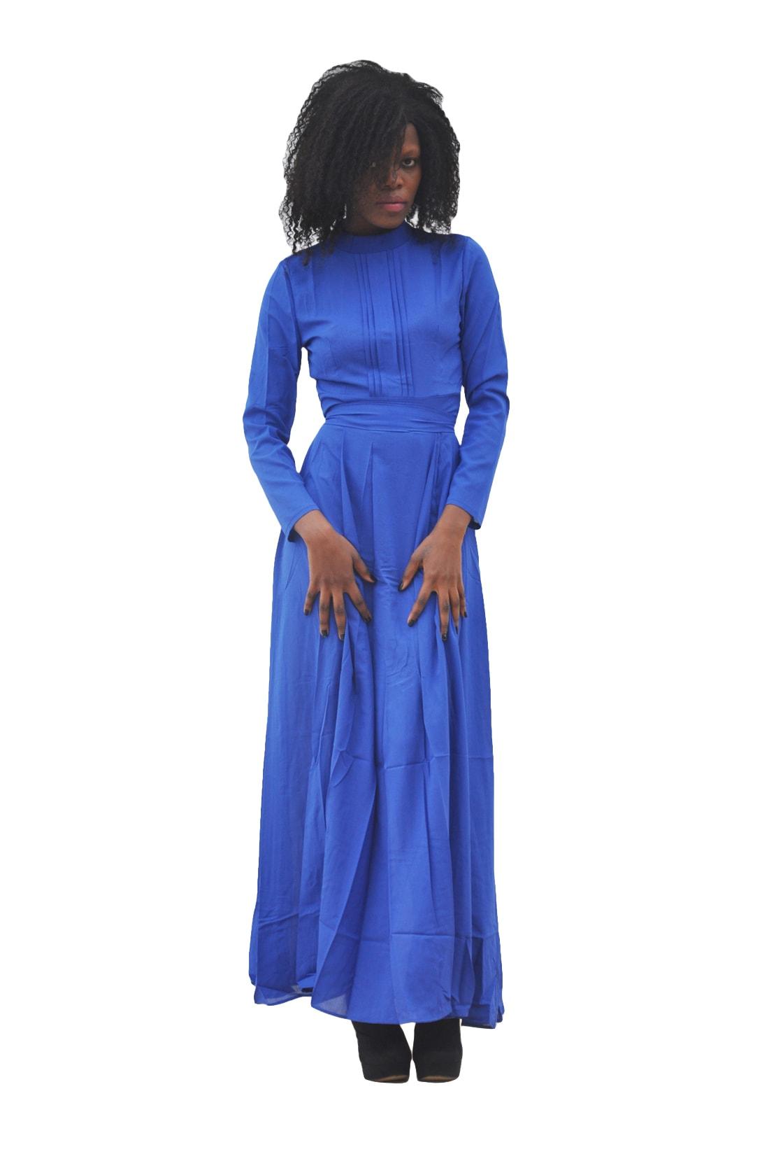 M0293 blue1 Long Sleeve Dresses maureens.com boutique