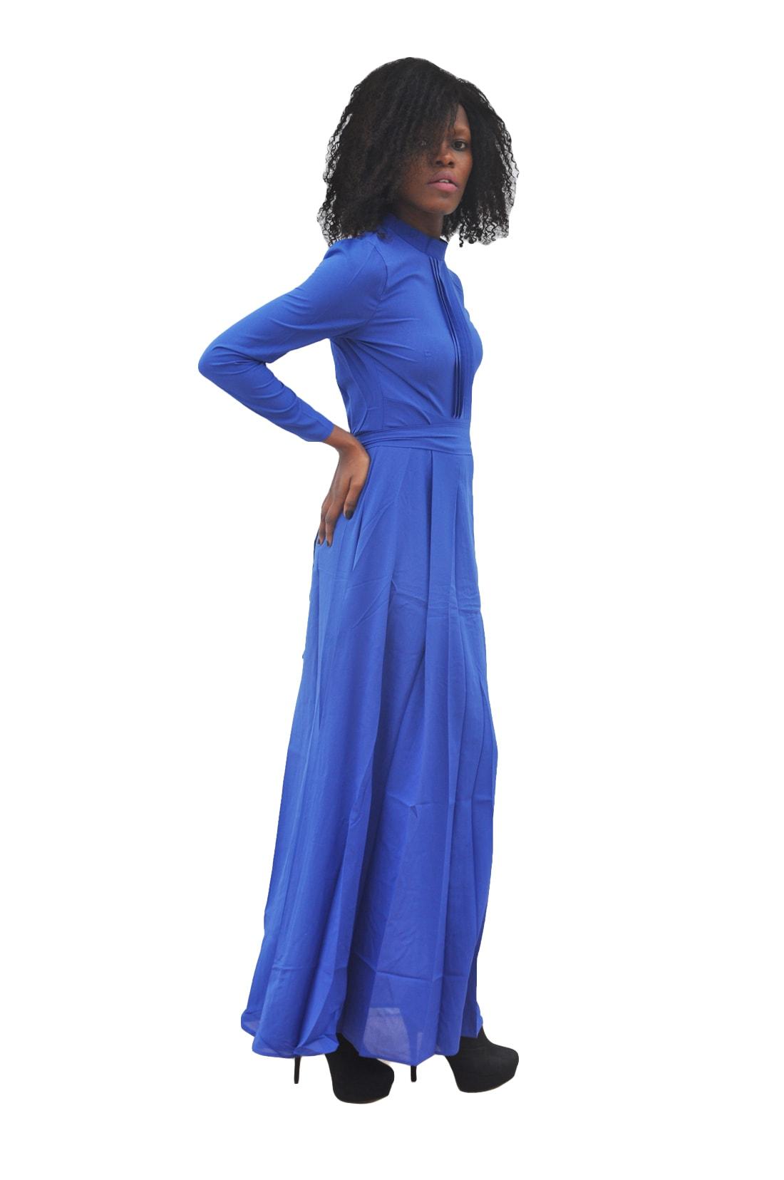 M0293 blue2 Long Sleeve Dresses maureens.com boutique