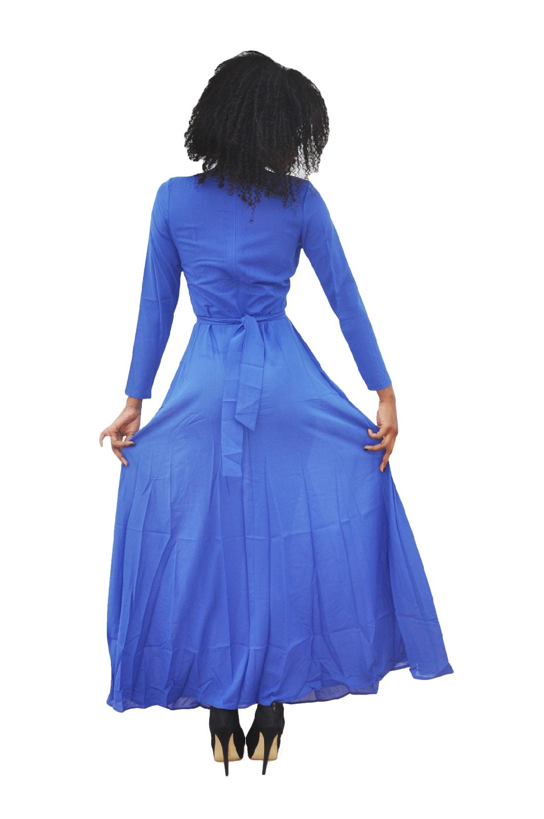 M0293 blue3 Long Sleeve Dresses maureens.com boutique