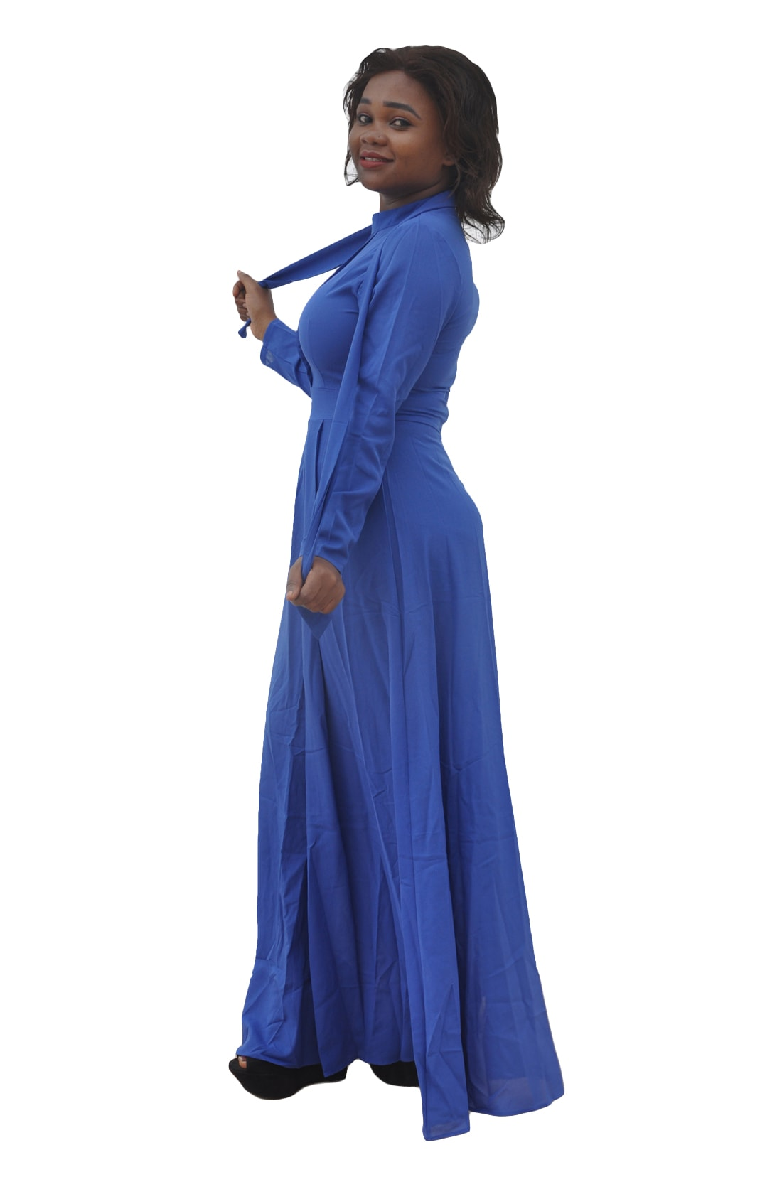 M0293 blue4 Long Sleeve Dresses maureens.com boutique