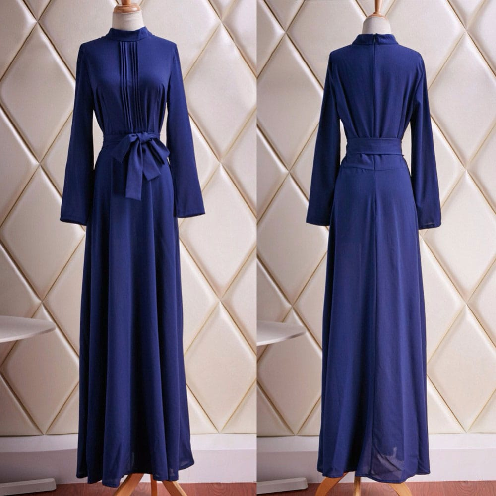 M0293 blue8 Long Sleeve Dresses maureens.com boutique