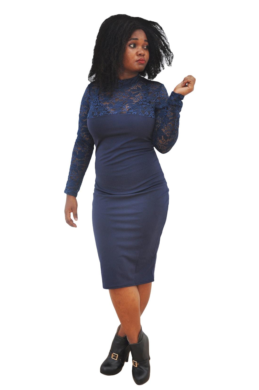 M0295 blue1 Bodycon Dresses maureens.com boutique