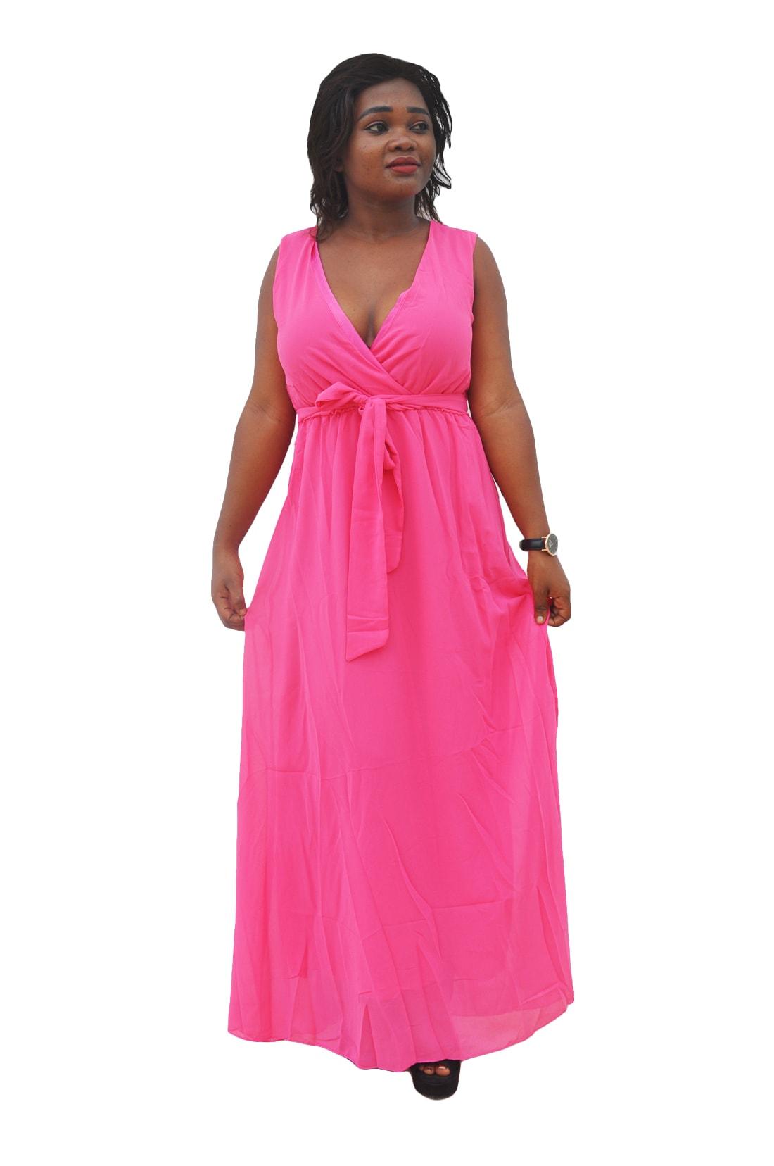 M0297 pink2 Bohemian Dresses maureens.com boutique