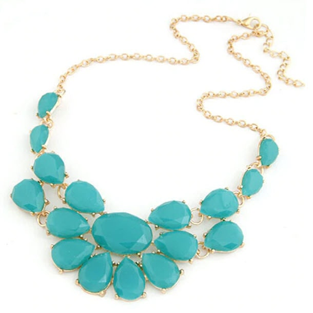M0298 skyblue1 Jewelry Accessories Necklaces Chokers maureens.com boutique