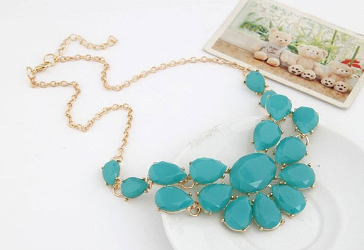 M0298 skyblue2 Jewelry Accessories Necklaces Chokers maureens.com boutique