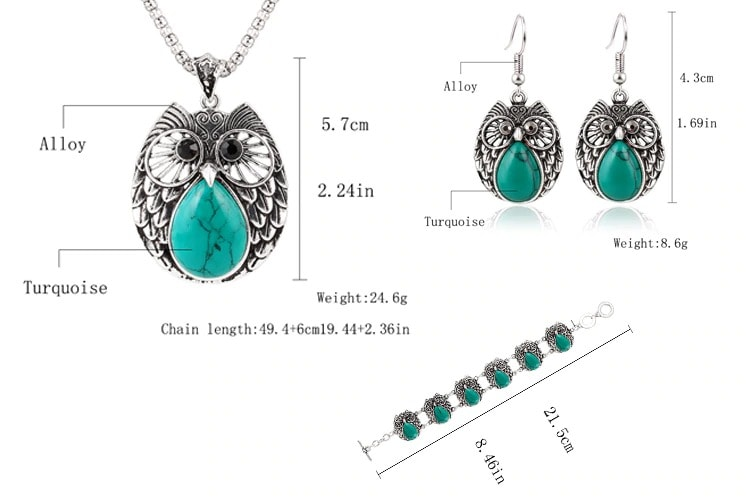 M0300 skyblue5 Jewelry Accessories Jewelry Sets maureens.com boutique