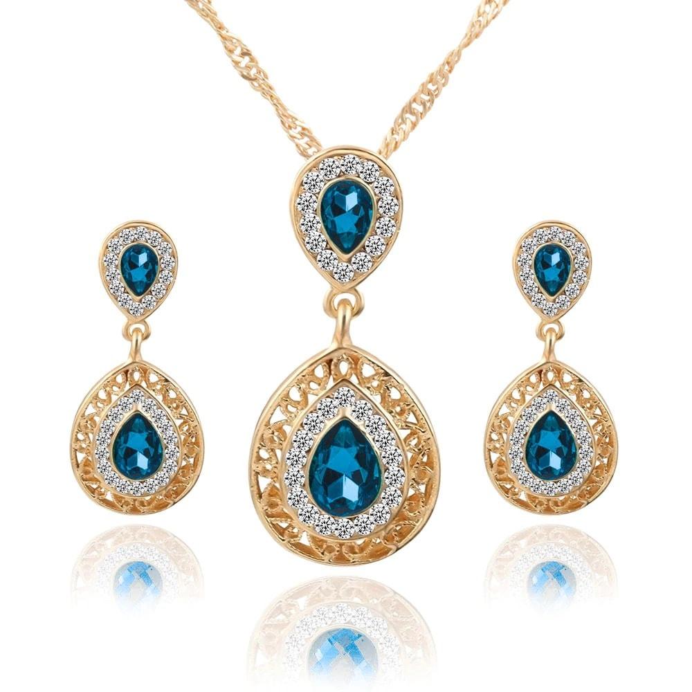 M0304 blue1 Jewelry Accessories Jewelry Sets maureens.com boutique