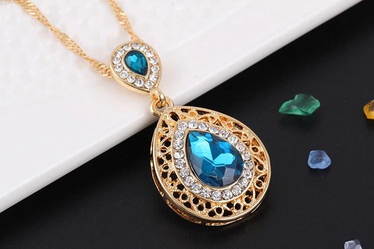 M0304 blue2 Jewelry Accessories Jewelry Sets maureens.com boutique