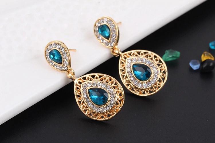 M0304 blue3 Jewelry Accessories Jewelry Sets maureens.com boutique