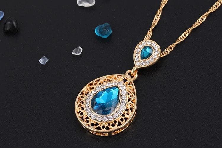 M0304 blue4 Jewelry Accessories Jewelry Sets maureens.com boutique