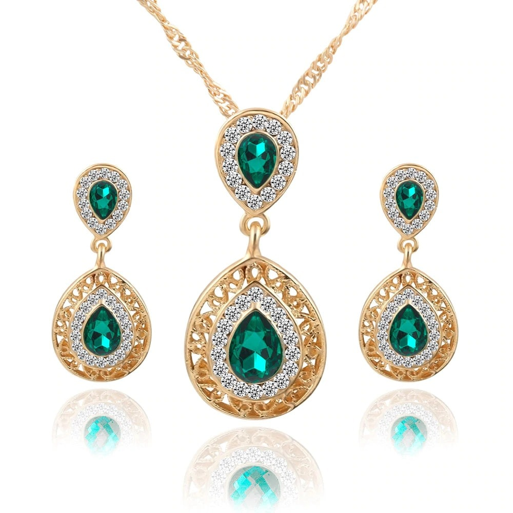 M0304 green1 Jewelry Accessories Jewelry Sets maureens.com boutique