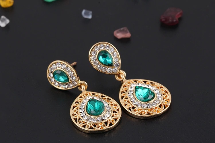 M0304 green3 Jewelry Accessories Jewelry Sets maureens.com boutique