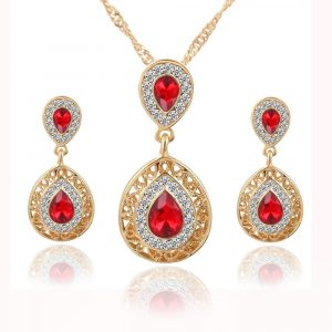 M0304 red1 Jewelry Accessories Jewelry Sets maureens.com boutique