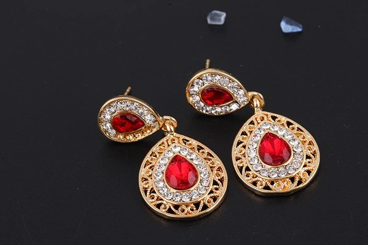 M0304 red3 Jewelry Accessories Jewelry Sets maureens.com boutique