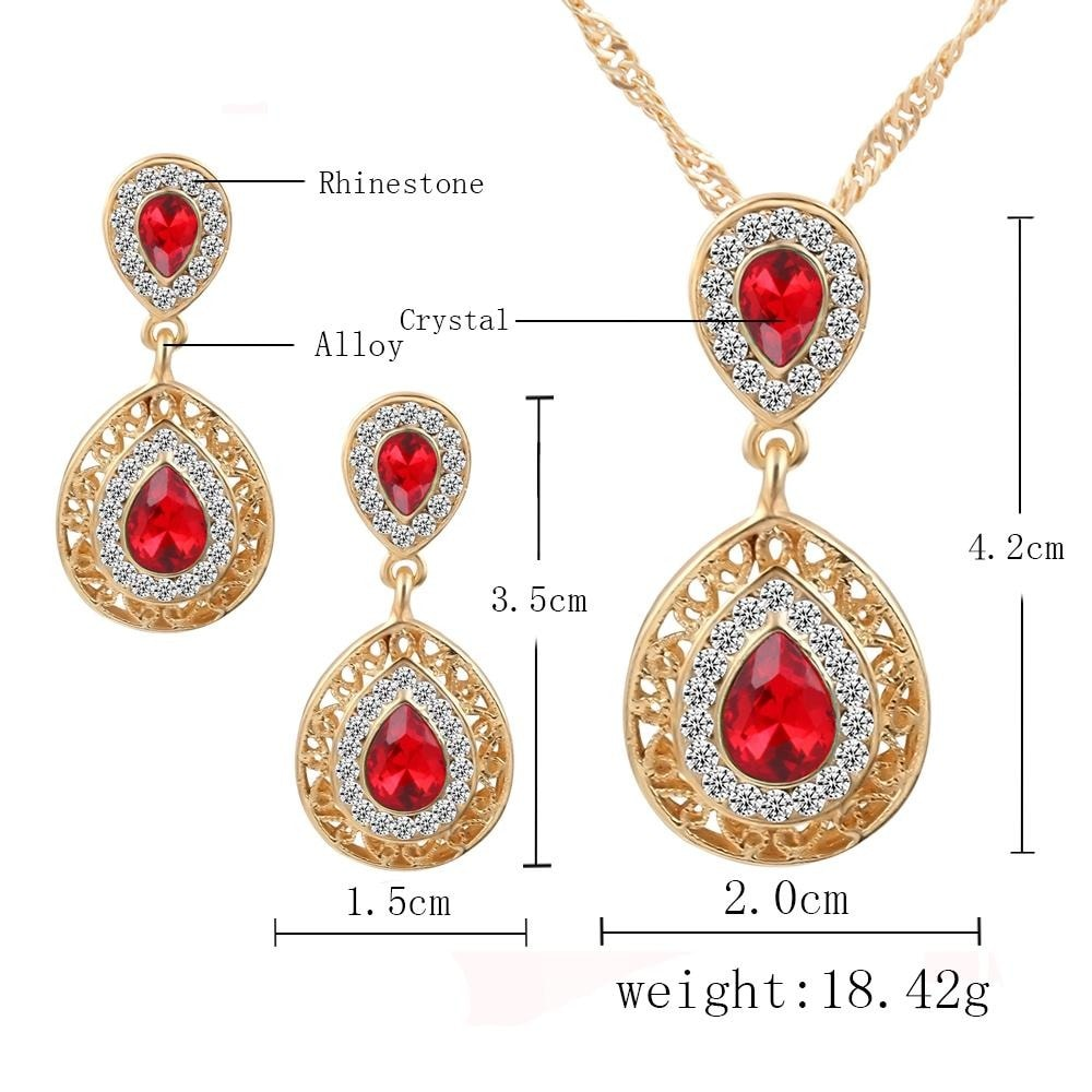 M0304 red5 Jewelry Accessories Jewelry Sets maureens.com boutique