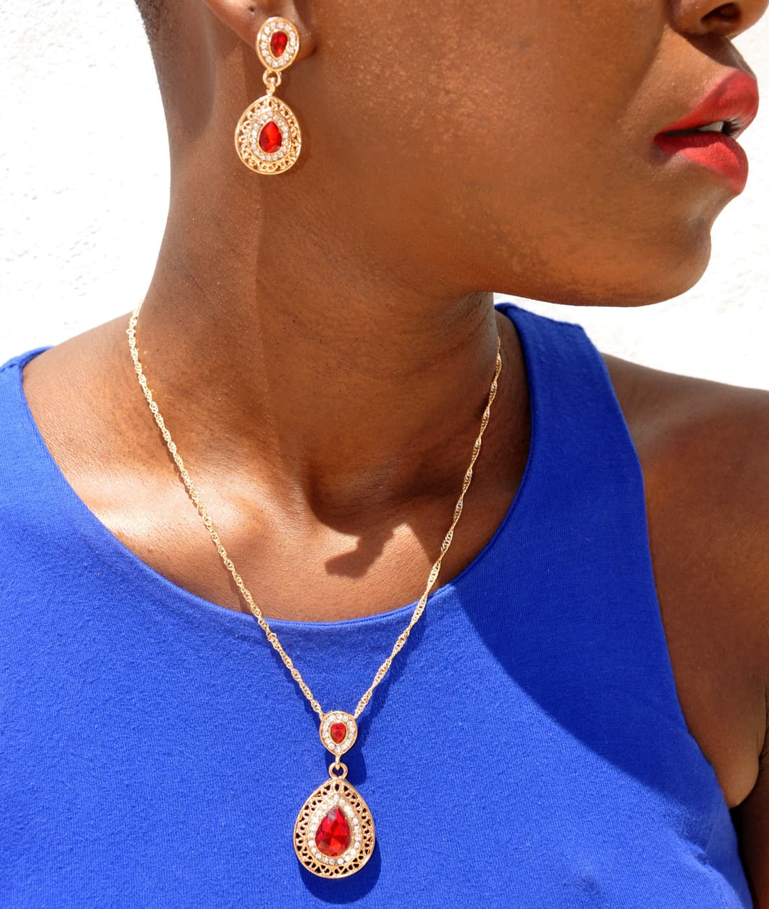 M0304 red6 Jewelry Accessories Jewelry Sets maureens.com boutique