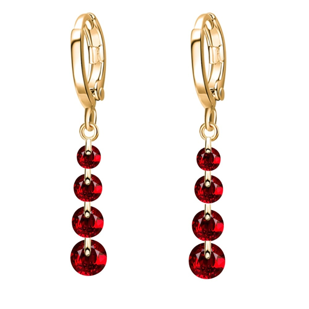M0306 goldred1 Jewelry Accessories Earrings maureens.com boutique