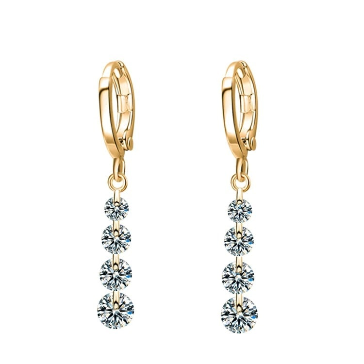M0306 goldwhite1 Jewelry Accessories Earrings maureens.com boutique