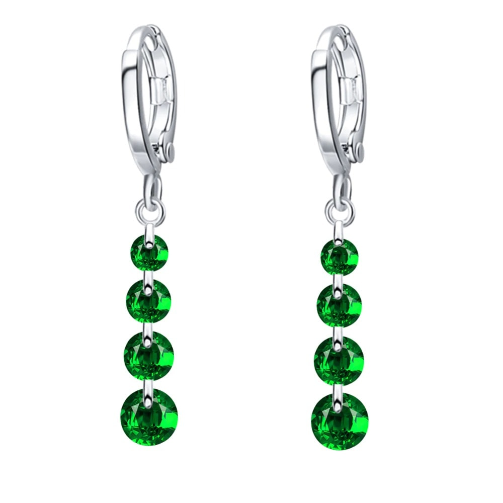 M0306 silvergreen1 Jewelry Accessories Earrings maureens.com boutique
