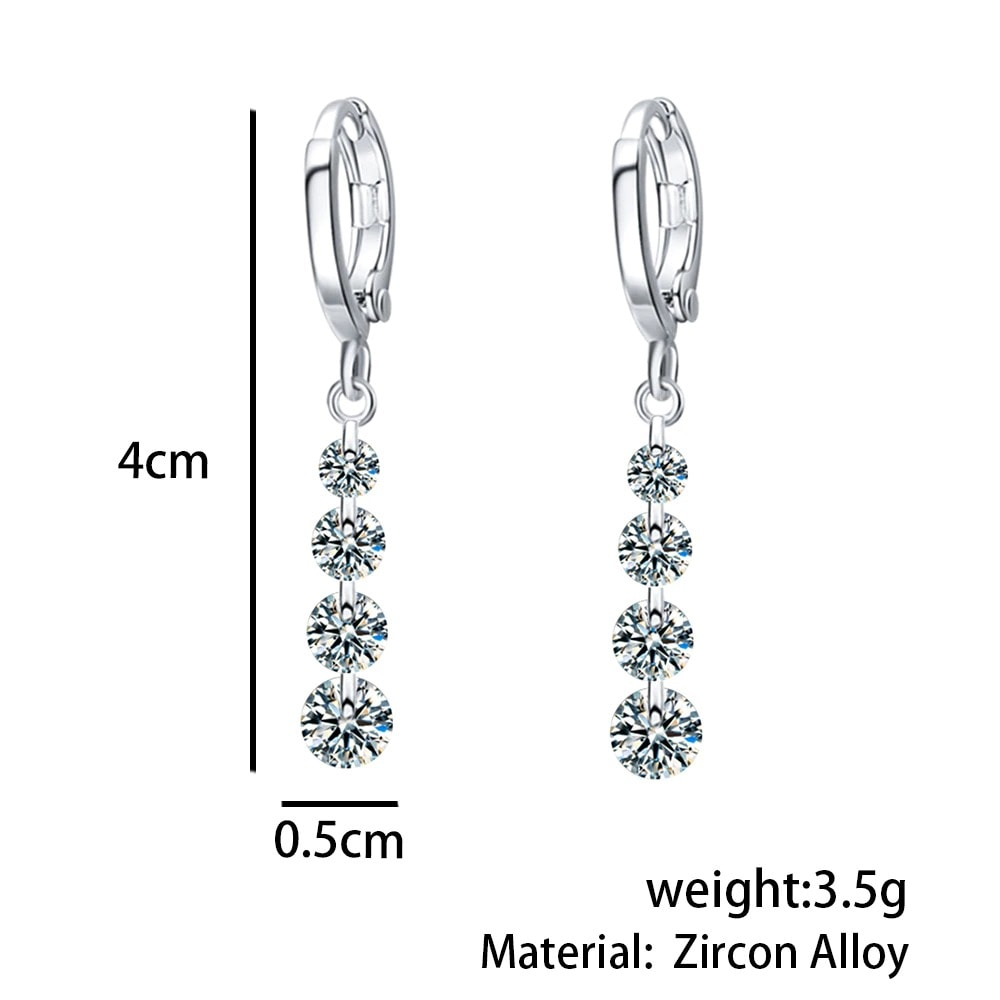 M0306 silverwhite2 Jewelry Accessories Earrings maureens.com boutique