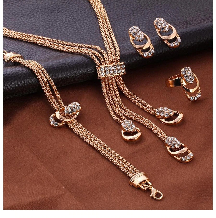 M0309 gold2 Jewelry Accessories Jewelry Sets maureens.com boutique