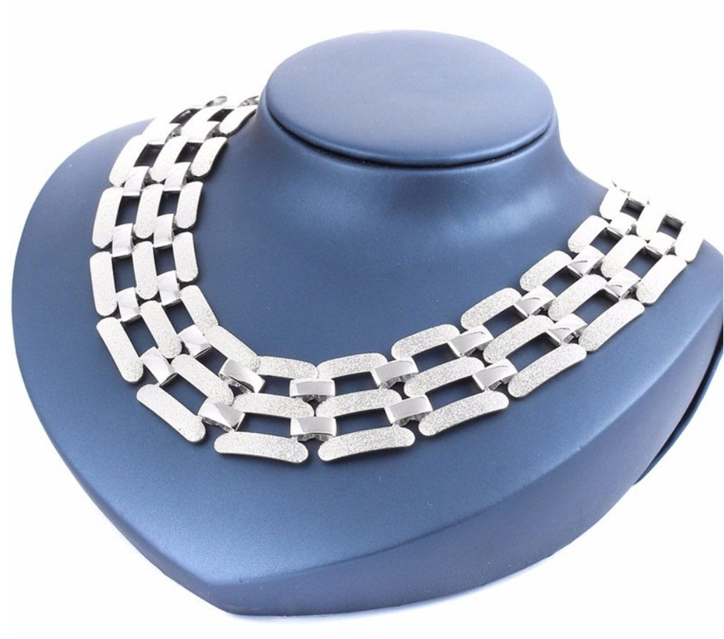 M0311 silver1 Jewelry Accessories Necklaces Chokers maureens.com boutique
