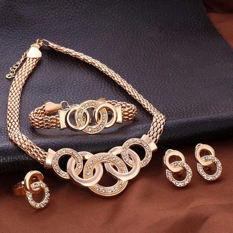 M0313 gold2 Jewelry Accessories Jewelry Sets maureens.com boutique