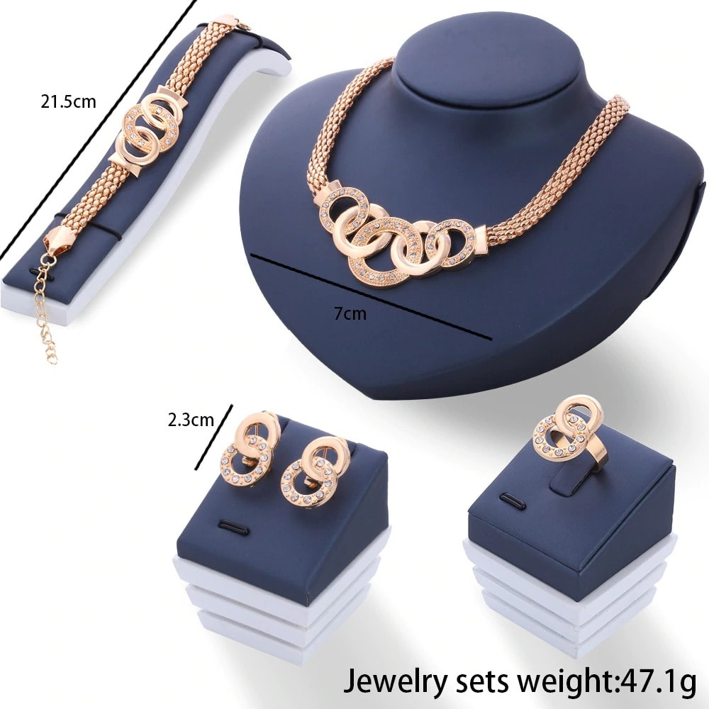 M0313 gold8 Jewelry Accessories Jewelry Sets maureens.com boutique
