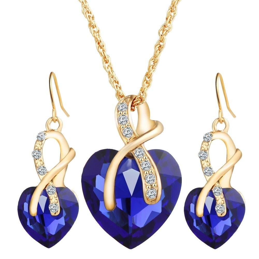 M0314 blue1 Jewelry Accessories Jewelry Sets maureens.com boutique
