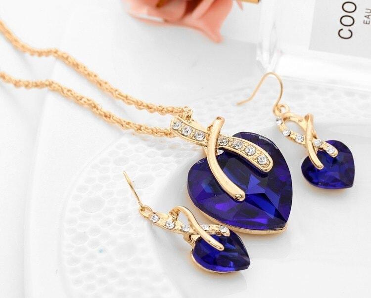 M0314 blue2 Jewelry Accessories Jewelry Sets maureens.com boutique