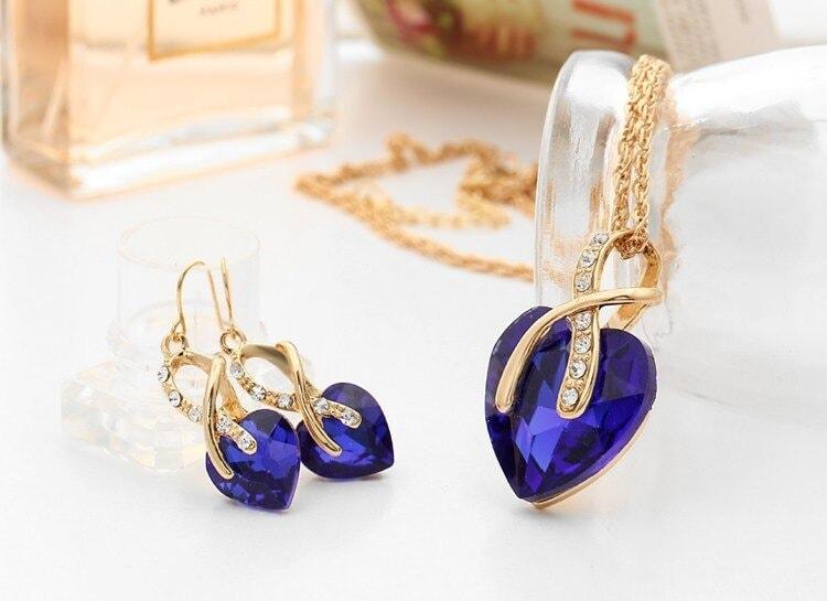 M0314 blue3 Jewelry Accessories Jewelry Sets maureens.com boutique