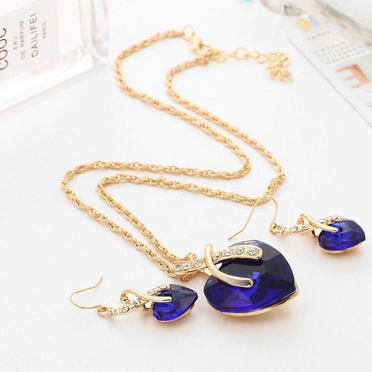 M0314 blue4 Jewelry Accessories Jewelry Sets maureens.com boutique
