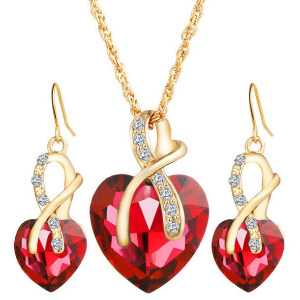 M0314 red1 Jewelry Accessories Jewelry Sets maureens.com boutique