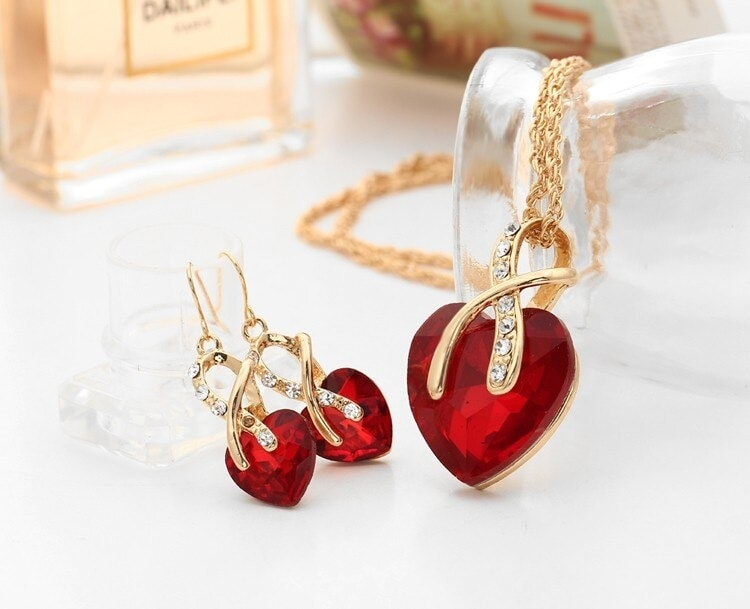 M0314 red3 Jewelry Accessories Jewelry Sets maureens.com boutique